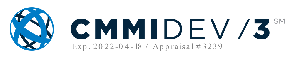 CMMI DEV Level 3 Certification, Appraisal #3239 Expires April 18, 2022